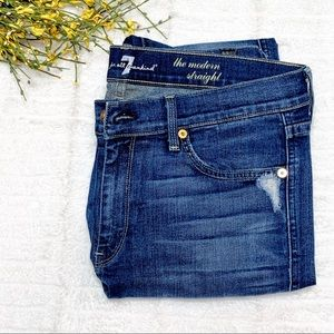 7 For All Mankind The Modern Straight Jean 31